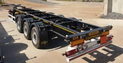 Orthaus. Облегченный 3х-осный п/п контейнеровоз CGS, 38 500кг.