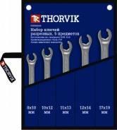 Набор ключей гаечных разрезных в сумке, 8-19 мм, 5 предметов FNWS005 THORVIK