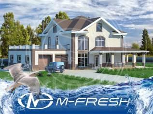 M-fresh Millioner (Проект огромного коттеджа, удивительного особняка! ). более 500 кв. м., 2 этажа, 6 комнат, бетон