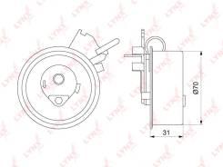 Ролик натяжной ремня ГРМ LYNXauto PB1187