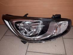 Фара правая Hyundai Solaris 10-
