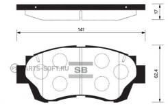 Колодки дисковые передние Toyota Camry 3.0 91-96/Celica 2.0 93-99 Sangsin Brake SP1138 SP1138_ SP1138