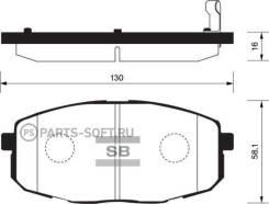 Колодки дисковые п. Kia Carens II 1.6-1.9CRDi 02 Sangsin Brake SP1162 SP1162_1038 02