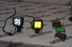 Светодиодные фары Rigid (Комплект) MMC Pajero [Leks-Auto 401]