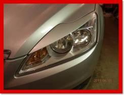 Реснички на фары (накладки) Ford Focus 2 2009-2011г (рестайлинг)