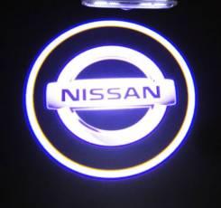 Проекция логотипа Nissan ( подсветка в двери)универсальная