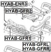 Сайлентблок задней поперечной тяги Febest Hyabgfr2