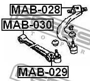Сайлентблок переднего нижнего рычага Febest MAB029