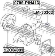 Подшипник кулака поворотного роликовый 15x42x11x15 Febest LM30302