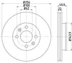 Тормозной диск с покрытием pro Textar 92164703