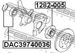 Подшипник ступичный передний 39x74x36x34 Febest DAC39740036