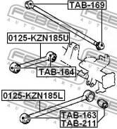 Сайлентблок заднего продольного рычага Febest TAB163