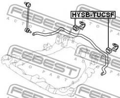 Втулка переднего стабилизатора d24.8 Febest Hysbtucf248