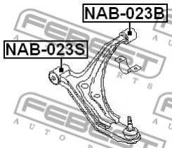 Сайлентблок задний переднего рычага Febest NAB023B NAB023B