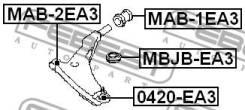 Сайлентблок передний переднего рычага Febest MAB2EA3
