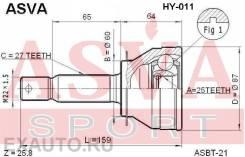 Шрус наружный 25x60x27 (hyunda ASVA HY011 HY011