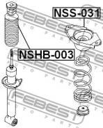 Пыльник заднего амортизатора Febest NSHB003