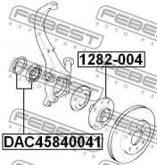 Подшипник ступичный передний 45x84x41 Febest DAC45840041