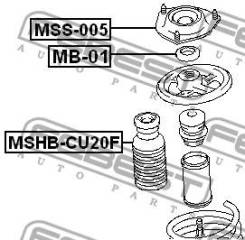 Пыльник переднего амортизатора Febest Mshbcu20F