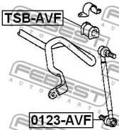 Тяга стабилизатора передняя Febest 0123AVF
