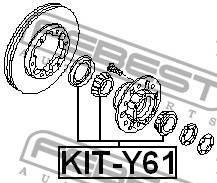 Подшипник роликовый передней полуоси ремкомплект Febest KITY61