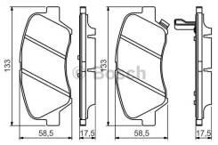 Колодки тормозные hyundai solaris 10- / kia rio 11- Bosch 0986494563 0986494563