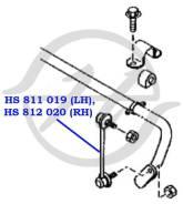 Тяга стабилизатора передней подвески, левая Hanse HS811019