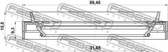 Сальник привода 33x59x9.3x15.5 Febest 95JES33590915X 95JES33590915X
