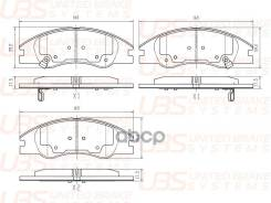 Премиум Тормозные Колодки Для Kia Cerato 04- Передние В Комплекте Со Смазкой (5г) UBS арт. bp1103053