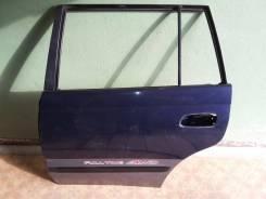 Дверь боковая задняя левая Caldina 19X синий