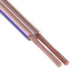 Кабель акустический двойной прозр. 2.5 мм2 (1м) Rexant 01-6208-3