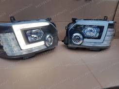 Фары LED тюнинг для Toyota Hiace 200 (Хайс) 2014-2019г. Черные