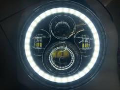 Фары LED линзы c ходовыми огнями круглые комплект