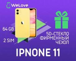 Apple iPhone 11. Новый, 64 Гб, Желтый, 3G, 4G LTE, NFC