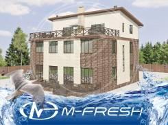 M-fresh Duplex Status (Проект большого дуплекса - дома на две семьи! ). 400-500 кв. м., 3 этажа, 12 комнат, бетон