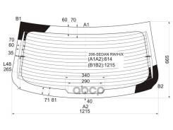 Стекло Заднее С Обогревом Peugeot 206 4d Sed 06-12 XYG арт. 206-Sedan RW/H/X