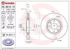 Диск тормозной пер. вент [283x26] 4 отв(min2) Brembo 09961910