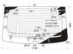 Стекло Заднее С Обогревом Peugeot 107/Citroen C1 3/5d 05-14 XYG арт. CI-C1 RW/H/X