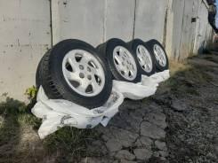 Колеса диски Nissan 4x100 резина Gislaved 14/185/65 шипы