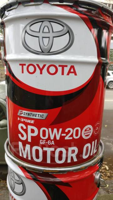 Toyota. 0W-20, синтетическое, 20,00л.