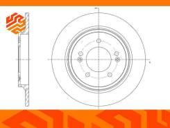Диск тормозной G-Brake GR01960 задний