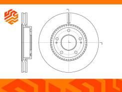 Диск тормозной вентилируемый G-Brake GR20242 передний