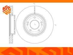 Диск тормозной вентилируемый G-Brake GR20374 передний