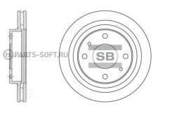 Диск тормозной передний S-IV/SV-02/Magentis -03 Sangsin Brake SD1045 SD1045