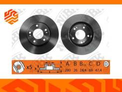 Диск тормозной NIBK RN1174 передний (Япония)