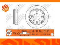 Диск тормозной NIBK RN1307 задний (Япония)