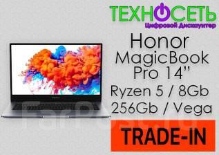 "Honor MagicBook 14. 14"", 4,0ГГц, ОЗУ 8 Гб, диск 256Гб, WiFi, Bluetooth, аккумулятор на 8ч."