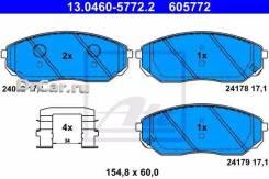 Колодки тормозные дисковые передн, KIA Sorento I 2.4/2.5 CRDi/3.3 V6/3.5 V6 02- ATE [13046057722]
