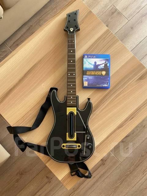 Гитара беспроводная Guitar Hero + Игра Guitar Hero Live для PS4