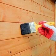 Строительство дома. Циклевание и покраска деревянных стен